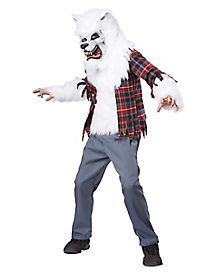 White Werewolf Child Costume