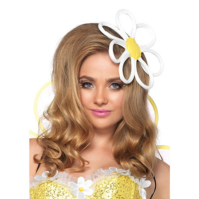 Vintage Inspired Halloween Costumes Daisy Hair Accessory $12.99 AT vintagedancer.com