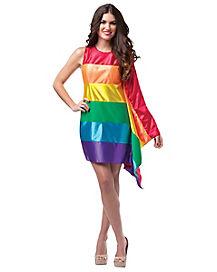 Adult Rainbow Flag Costume