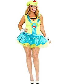 Green Playful Plumber Plus Size Womens Costume