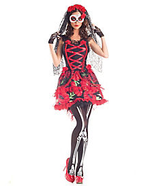 Day of Dead Senorita Adult Womens Costume