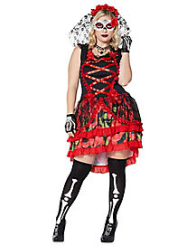 Adult Senorita Day of the Dead Plus Size Costume