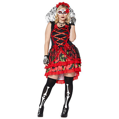 Day of Dead Senorita Plus Size Womens Costume