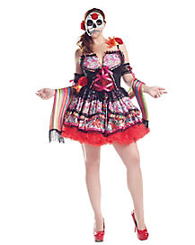 Day of Dead Adult Womens Plus Size Costume