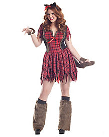 Adult She Wolf Werewolf Plus Size Costume