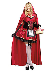Little Red Adult Womens Plus Size Costume