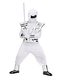 Kids Ice White Mirror Ninja Costume