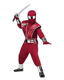 Kids Mirror Red Ninja Costume