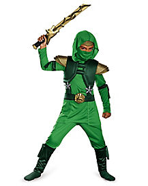 Green Master Ninja Deluxe Child Costume