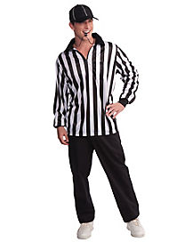 Adult Long Sleeve Referee Costume