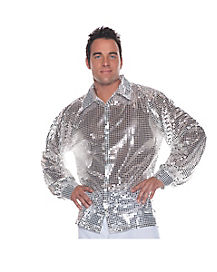 Silver Sequin Mens Shirt