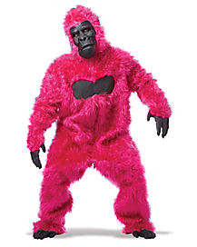 Adult Hot Pink Gorilla Mascot Costume