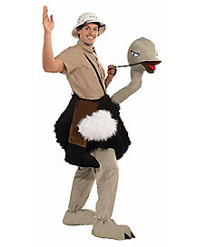 Adult Riding the Ostrich One Piece Costume