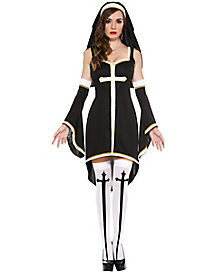 Sinfully Hot Nun Adult Womens Costume