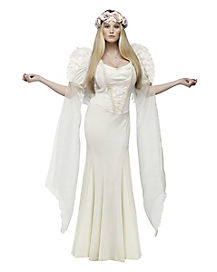 Adult Ivory Angel Costume - Deluxe