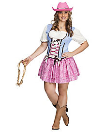 Rodeo Sweetie Womens Plus Size Costume