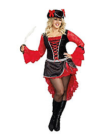 Treasure Pleasure Adult Womens Plus Pirate Costume