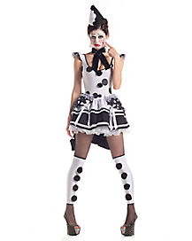 Pierrot Sad Clown Adult Womens Costume