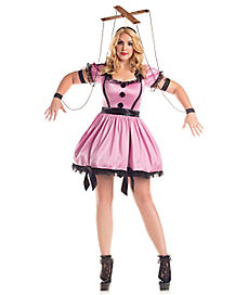 Adult Pink Marionette Plus Size Costume
