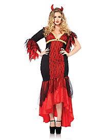 Diva Devil Plus Size Adult Womens Costume