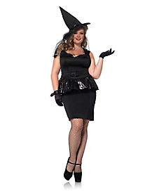 Adult Peplum Bewitching Witch Plus Size Costume