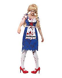 Adult Zombie Barvarian Girl Costume