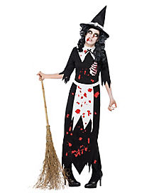 Adult Womens Zombie Salem Witch Costume