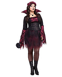 Adult Gothing Rose Vampire Plus Size Costume