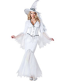 Adult White Magic Witch Costume - Theatrical