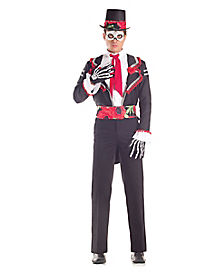 Day of Dead Senor Adult Mens Costume