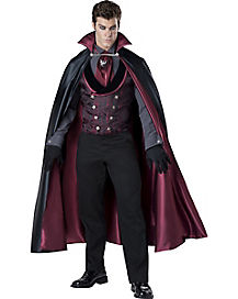 Adult Mignight Count Vampire Costume - Theatrical