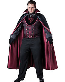 Midnight Count Adult Mens PlusSize Vampire Costume
