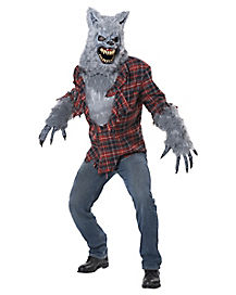 Adult Grey Lycan Werewolf Costume