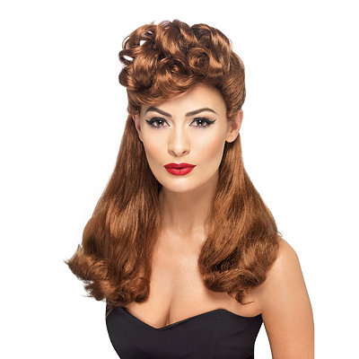 Vintage Inspired Halloween Costumes 40s Vintage Wig $24.99 AT vintagedancer.com