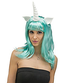 Teal Unicorn Wig