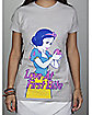 Disney Snow White Love at First Bite Junior Fitted Tee
