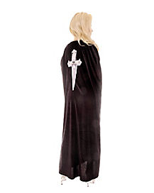 Black Dagger Cape Adult Womens Costume