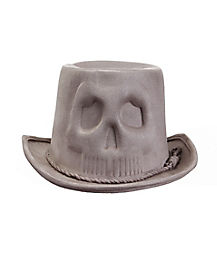 Grey Skull Coachman Hat