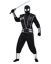 Silver Mirror Ninja Adult Mens Costume
