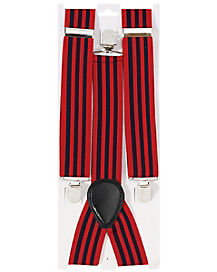Red and Blue Striped Suspenders