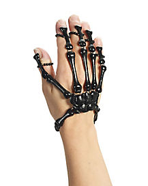 Black Skeleton Hand Bracelet