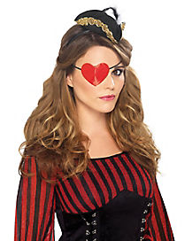 Pirate Heart Shaped Eye Patch