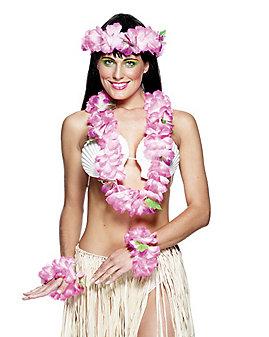 Hawaiian Pink Hula Set