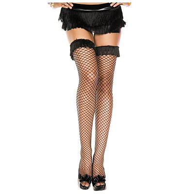 1920s Style Stockings & Socks Fringe Thigh High Stockings $12.99 AT vintagedancer.com
