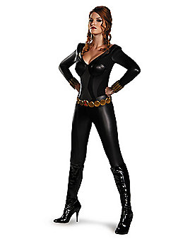 Adult Black Widow Bustier Costume - Avengers