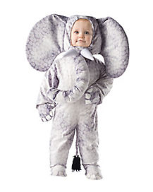 Toddler Grey Elephant One Piece Costume