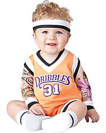 Baby Dribble Basketball Player One Piece Costume