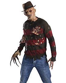 Adult Burned Sweater Freddy Costume - Nightmare on Elm Street