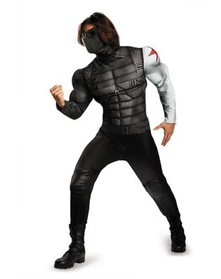 Adult Winter Solider Plus Size Costume - Captain America Winter Solider