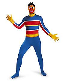 Adult Ernie Skin Suit Costume - Seamse Street